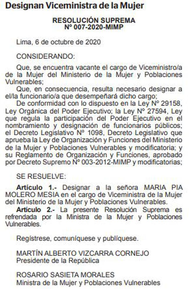 (Documento: El Peruano)