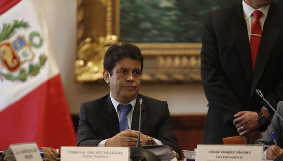 El fiscal supremo Tomás Gálvez es acusado de interferir en las investigaciones que se realizan en el marco del caso Lava Jato. (Foto: GEC)