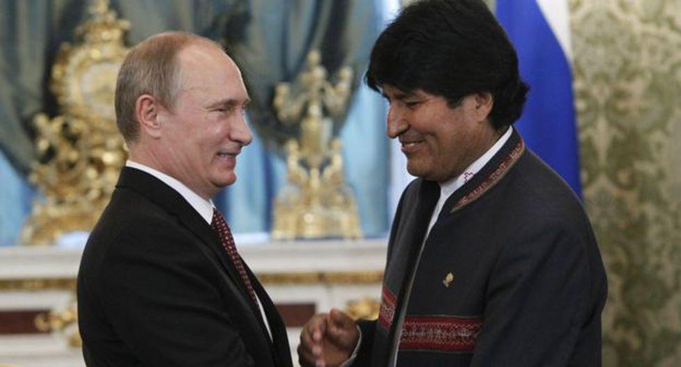 Vladimir Putin y Evo Morales se han reunido varias veces durante sus extensos mandatos. (Foto: AFP)