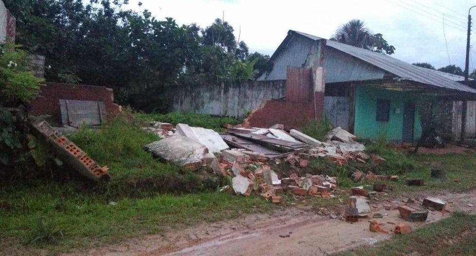 El distrito de Lagunas, en Alto Amazonas, región Loreto, fue uno de los más afectados por el sismo. (Foto: @geovanniacate)