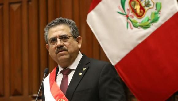 Manuel Merino, presidente interino de Perú. (Foto: Congreso)