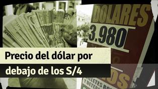 Tipo de cambio se cotiza por debajo de los S/4: ¿A qué se debe esta caída en el precio del dólar?