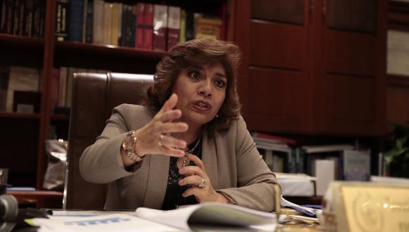 """Zoraida Ávalos expresó su rechazo a """"todo intento de impunidad"""". (Foto: GEC)"""