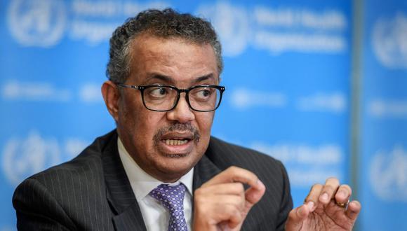 El director de la OMS, Tedros Adhanom Ghebreyesus. (Foto: AFP)