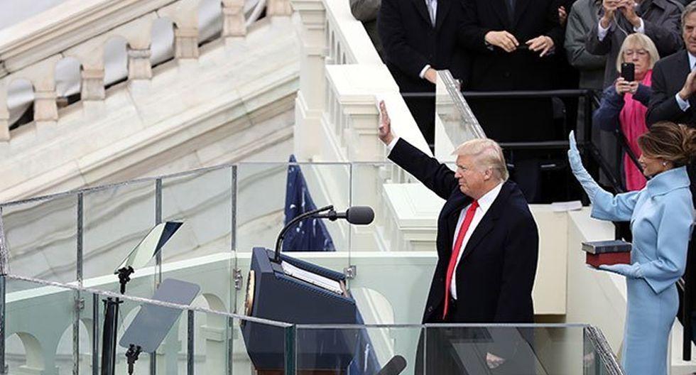FOTO 8 | Durante su toma de posesión, Trump no disfrutó de su propia toma de posesión, entre otras cosas, porque personalidades de gran importancia se negaban a asistir al acto.