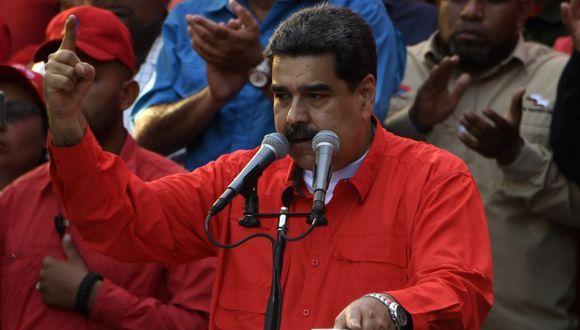 """Nicolás Maduro indicó que la política """"intervencionista"""" y """"golpista"""" que maneja Estados Unidos para """"desestabilizar"""" Venezuela tiene """"resultados adversos"""". (Foto: AFP)"""