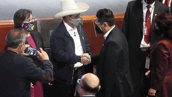 """Postura. Vladimir Cerrón advirtió que si el Gobierno de Pedro Castillo se desvía """"el partido lo va a rectificar"""". (Foto: GEC)"""