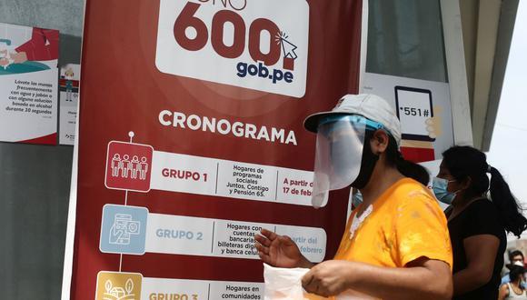 Sepa aquí todos los detalles sobre el cobro del Bono 600. (Foto: Jesus Saucedo / GEC)