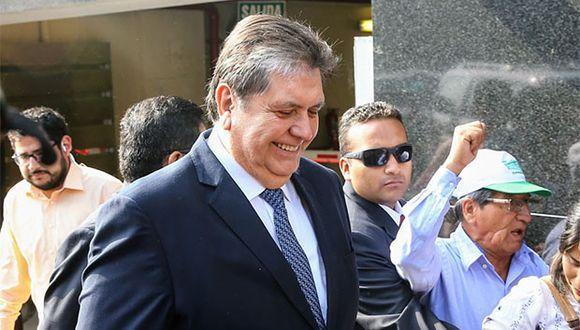 Alan García declaró por el caso de sobornos en la Línea 1 del Metro de Lima. (Foto: Agencia Andina)