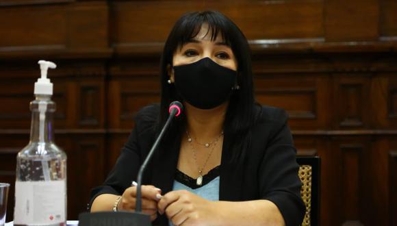 """Mirtha Vásquez, presidenta del Congreso de la República, señaló que este viernes se debe votar """"indefectiblemente"""" el informe final del caso Edgar Alarcón. (Foto: GEC)"""