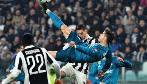 Chalaca de Cristiano Ronaldo ayudó a la victoria del Real Madrid a la Juventus en Italia (Foto: Agencias).