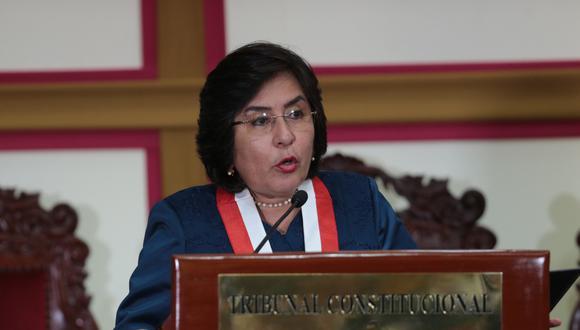 Marianella Ledesma, presidenta del Tribunal Constitucional (TC). (Foto: Difusión)