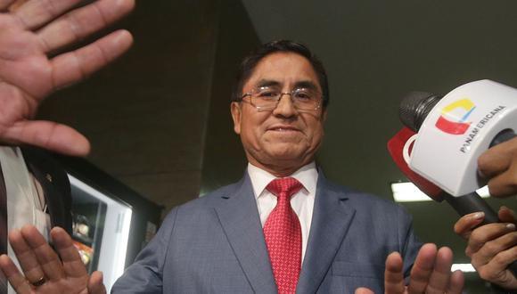El suspendido juez supremo César Hinostroza fue denunciado por la fiscalía ante el Congreso. (Foto: Andina)