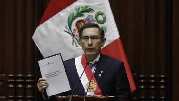 El presidente Martín Vizcarra anunció el proyecto de reforma constitucional en su mensaje a la Nacion. (Foto: GEC)