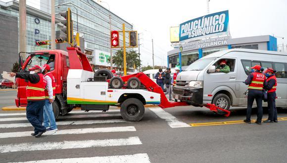 A los conductores se les impusieron actas de control que, según la falta, pueden llegar hasta los S/ 17,000. (Foto: ATU)