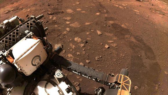 El rover Perseverance se posó en el planeta rojo el 18 de febrero y se trasladó aproximadamente un kilómetro al sur de su lugar de aterrizaje. (Foto de ARCHIVO)