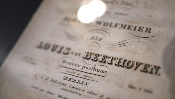 Una partitura musical del compositor Ludwig van Beethoven (Foto: AFP)