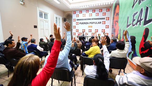 Fuerza Popular participará en elecciones congresales 2020