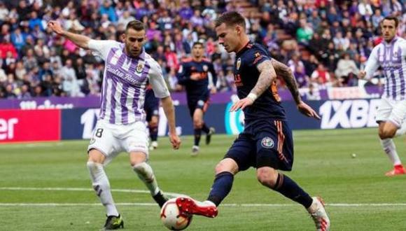 Partido entre Valladolid y Valencia de la última jornada de LaLiga 2018-19. (Foto:EFE)