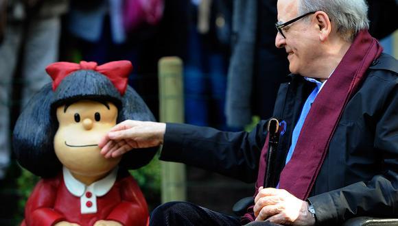 Joaquín Salvador Lavado, conocido como Quino y creador de Mafalda, falleció a los 88 años. (Foto: AFP)