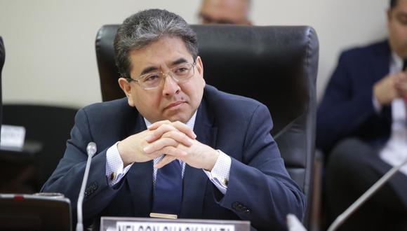 Nelson Shak se presentó en el Congreso para detallar operativos de fiscalización de obras de la Reconstrucción con Cambios. (Foto: Congreso)