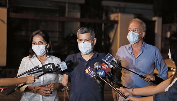 Luis Galarreta aseveró que no han contratado a ningún abogado, pero que sí han recibido a profesionales voluntarios. (Foto: Hugo Pérez   GEC)