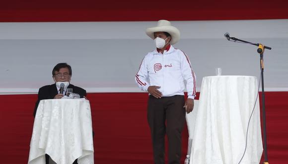 Juntos por el Perú anunció su respaldo a la candidatura de Pedro Castillo por Perú Libre. (Foto: GEC)