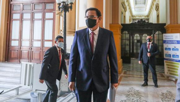 Martín Vizcarra acusó al informe de Jim Alí Mamani de tener mentiras para inhabilitarlo del proceso electoral. (Foto: Congreso)