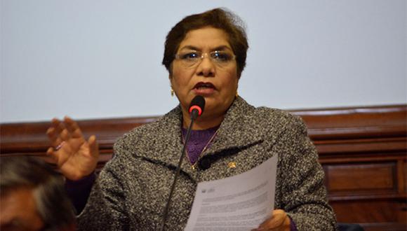 Luz Salgado respondió a críticos de la Comisión de Constitución. (Foto: Agencia Andina)