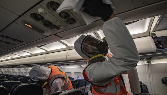 Delta Air Lines levantará el bloqueo del asiento a partir del 1 de mayo. (Foto: Juan BARRETO / AFP).