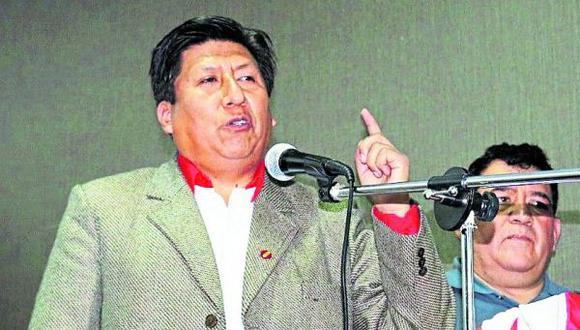 """""""El Gobierno está para hacer obras y el partido político Perú Libre está para dirigir la situación ideológica de nuestro país"""", señaló Waldemar Cerrón. (Foto: GEC)"""