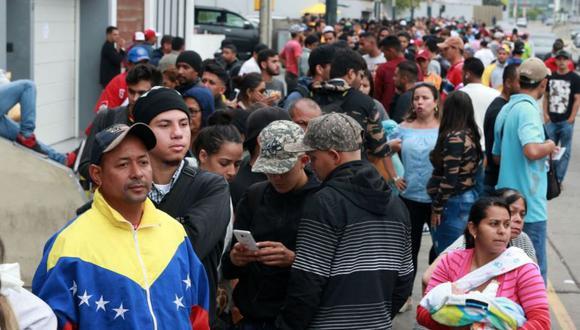 Los venezolanos han llegado al Perú por la dura situación que se vive en su país. (El Comercio)