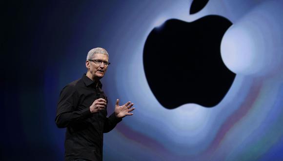 Tim Cook, CEO de Apple, durante la presentación de uno de sus equipos. (Foto: AP)