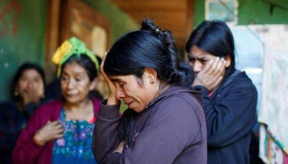 Catarina Alonzo relató cómo el niño y su padre Agustín, se habían ido a principios de diciembre a buscar trabajo en EE.UU. para pagar sus deudas (Foto: Reuters)