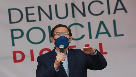 El presidente Martín Vizcarra dijo que las investigaciones del caso 'Richard Swing' determinarán si es cierto lo que se oye en los audios. (Foto: Lino Chipana / @photo.gec)