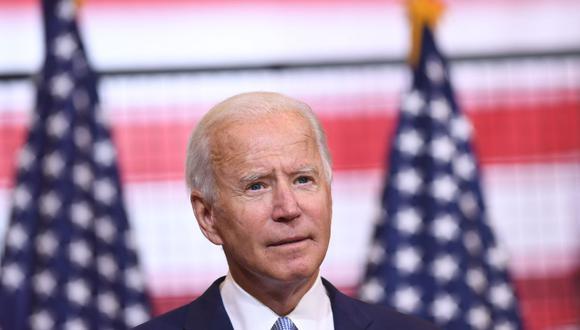 Biden tiene como objetivo destronar el 3 de noviembre al presidente Donald Trump, quien ha provocado tensiones con México por el comercio y la seguridad fronteriza desde que se refirió a los migrantes mexicanos como violadores y narcotraficantes al comienzo de su candidatura presidencial en el 2015-2016. (Foto: SAUL LOEB / AFP).