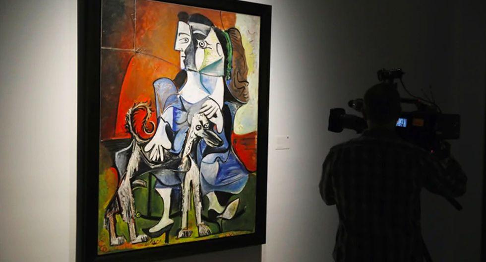 FOTO 4 | Femme Au Chien de Pablo Picasso, US$ 54.9 millones. Creada en 1962 y vendida en Sotheby's. (Foto: Reuters)