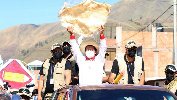 Pedro Castillo en Cusco. Foto: Juan Sequeiros.