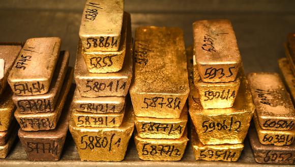 Los futuros del oro en Estados Unidos mejoraban un 1.8% a US$ 2,056.30. (Foto: AFP)