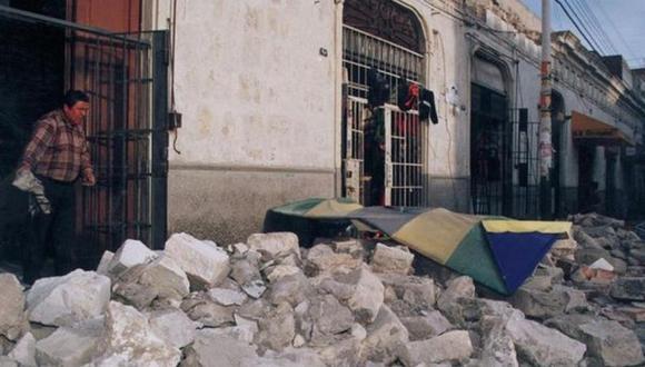 El terremoto del 2001 afectó el sur del Perú. (Foto: Archivo GEC)