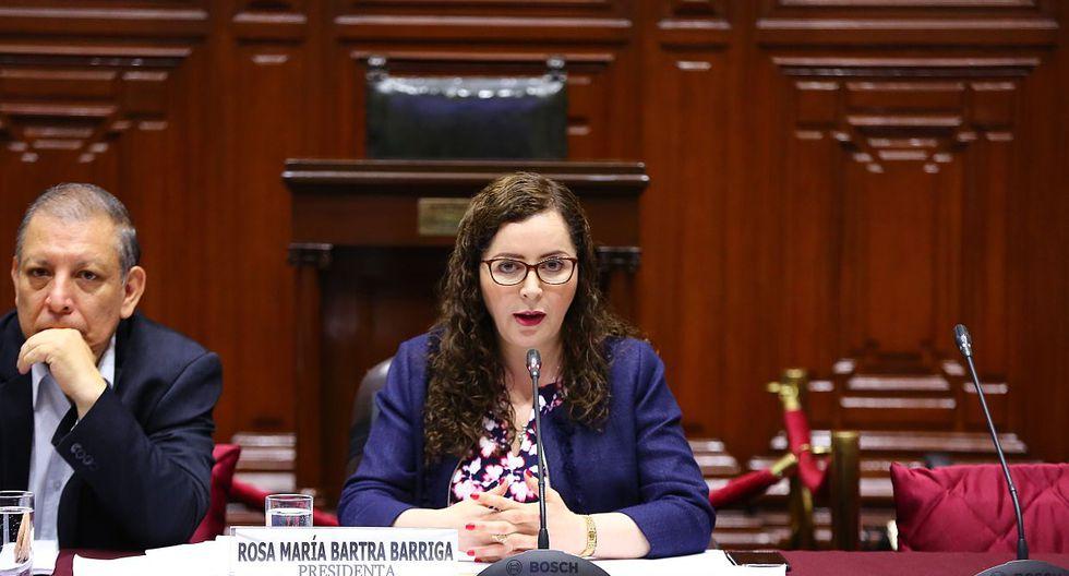 La congresista Rosa Bartra descartó cualquier tipo de blindaje al ex fiscal de la Nación, Pedro Chávarry. (Foto: Congreso)