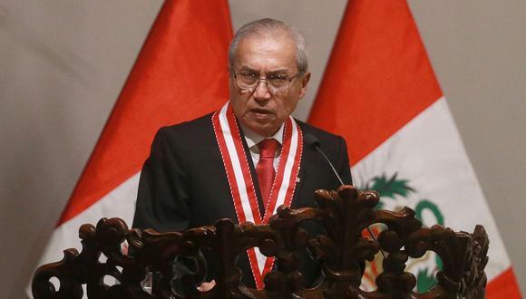 El fiscal de la Nación, Pedro Chávarry, acudió al Congreso para reunirse con el presidente de la Mesa Directiva, Daniel Salaverry. (Foto: USI)