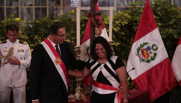 Fabiola Muñoz dejó la cartera del Ambiente y juró como ministra de Agricultura. (Foto: Hugo Pérez / GEC)