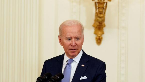 El presidente de los Estados Unidos, Joe Biden, habla durante una ceremonia en la Casa Blanca en Washington, DC. (EFE/EPA/Stefani Reynolds / POOL).