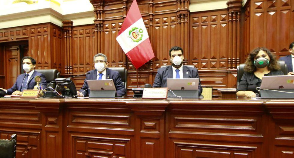 La Mesa Directiva anunció la donación del 50 % de su remuneración a favor de la lucha contra el COVID-19. (Foto: Congreso)