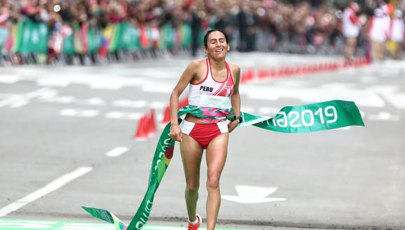 Gladys Tejeda batió récord y se llevó el oro en la maratón femenina. (Foto: GEC)