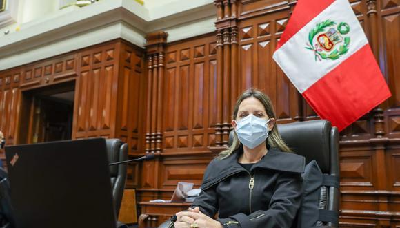 María del Carmen Alva señaló que lo dicho por Bellido Ugarte es perjudicial para el país . (Foto: archivo Twitter Congreso)