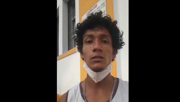 Luis Fernando Araujo Enríquez denunció que fue detenido por agentes del Grupo Terna. (Foto: Aprodeh/Twitter)
