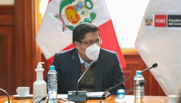 Competencia de donaciones de oxígeno recae en Cenares, de acuerdo al Decreto de Urgencia N° 066 -2020, señaló el ex premier, Vicente Zeballos. (Foto: Andina)