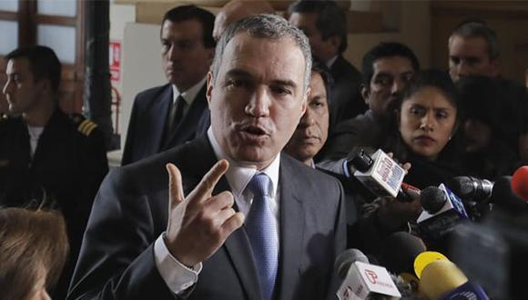 Salvador del Solar presentó hoy el documento sobre la cuestión de confianza al Congreso de la República. (Foto: Anthony Niño De  Guzmán / GEC)